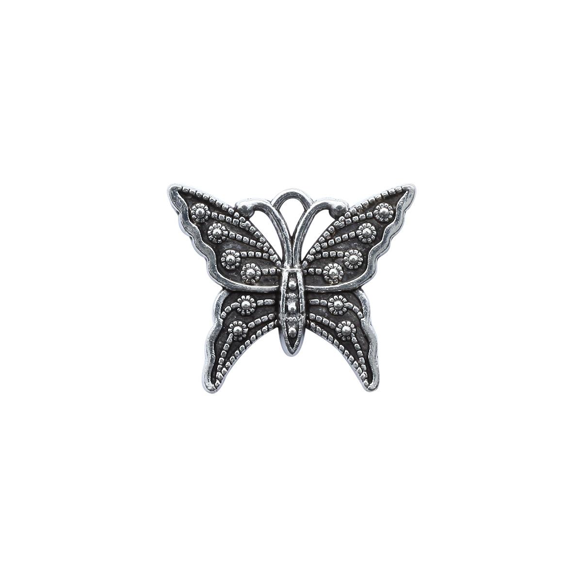 4AR043 Подвеска металлическая бабочка,2шт/упак, Астра