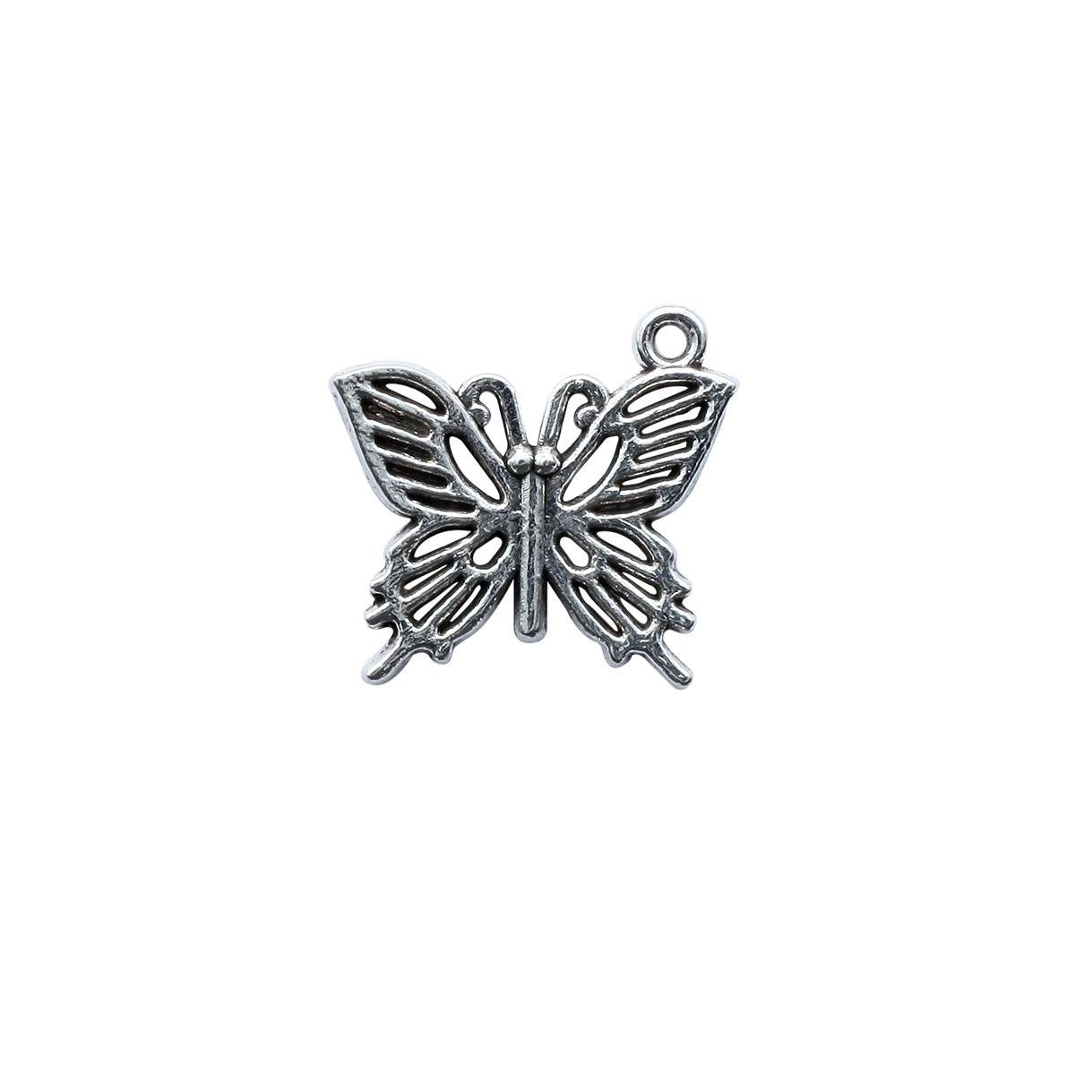 4AR044 Подвеска металлическая бабочка,2шт/упак, Астра