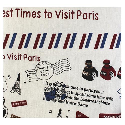 Ткань декоративная 'Визит в Париж' х/б, 48*48 см