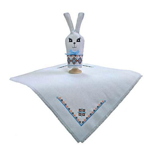М-060 Набор для вышивания крестом 'Заяц', разм. салфетки-30*30 см, заяц-18*7,5 см