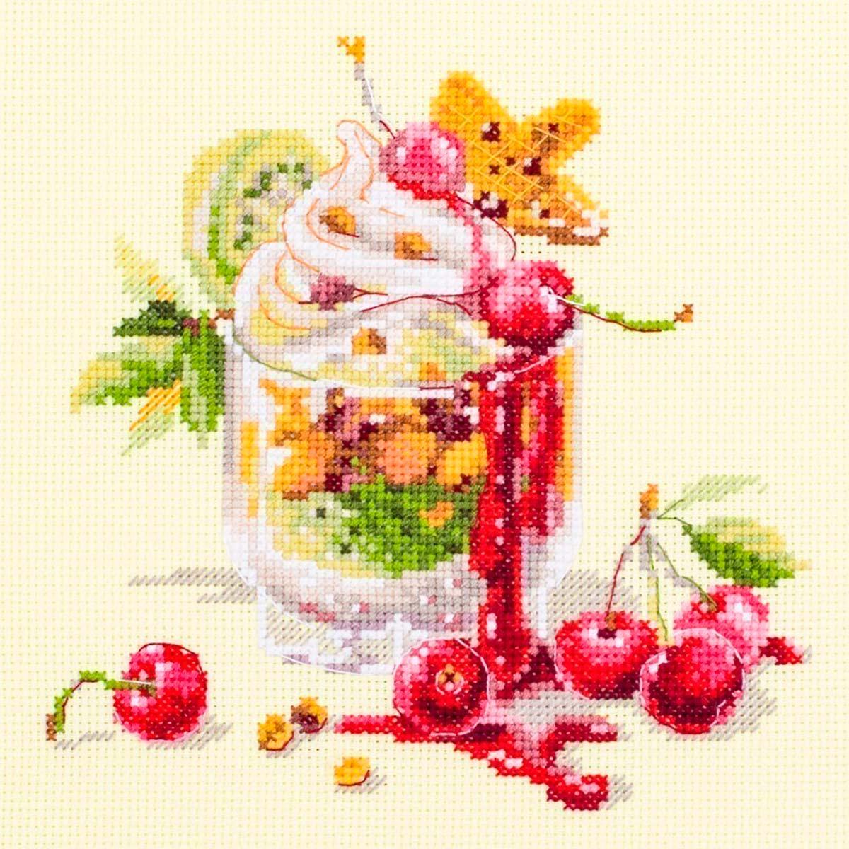 120-081 Набор для вышивания Чудесная игла 'Вишнёвый десерт'