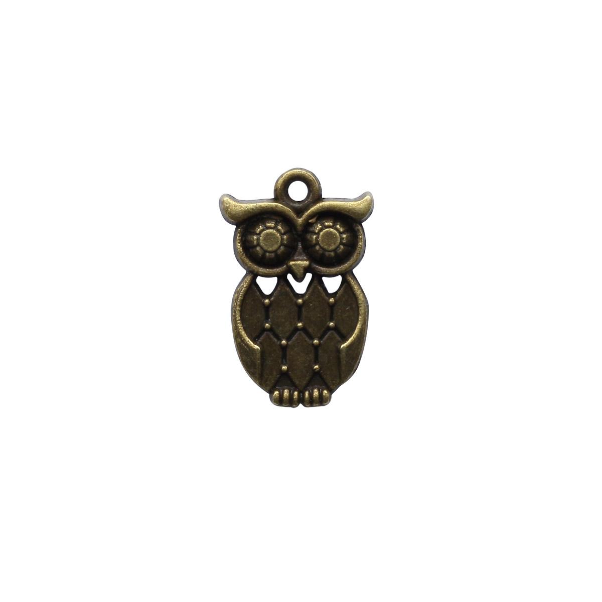 4AR048 Подвеска металлическая сова 7292,2шт/упак, Астра
