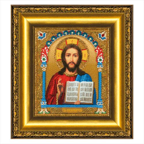 Б-1203 Набор для вышивания бисером 'Чарівна Мить' 'Икона Господа Вседержителя', 20,3*23,5 см