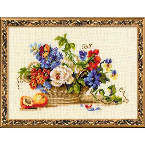 864 Набор для вышивания Riolis 'Натюрморт с персиком', 30*24 см