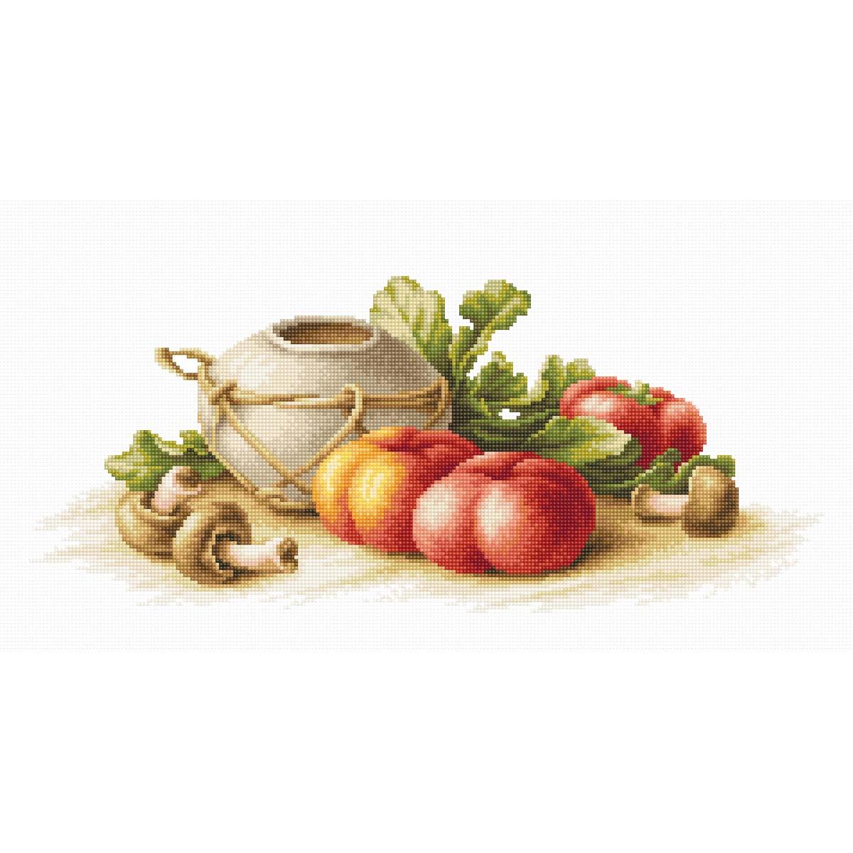 B2249 Набор для вышивания 'Натюрморт с овощами' 40,5*17см, Luca-S