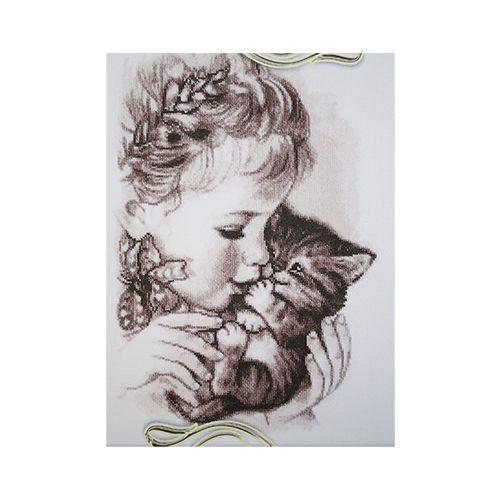 1210 Набор для вышивания Alisena 'Любимый котенок', 23*34 см