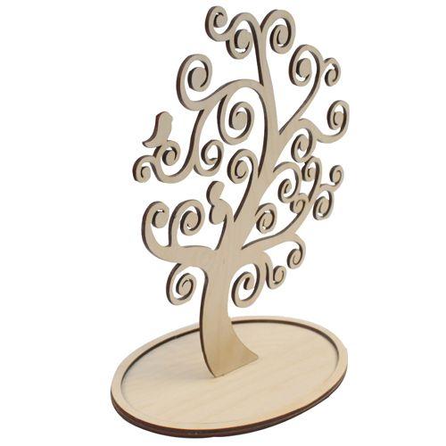 L-360 Деревянная заготовка дерево под бижутерию 'Завитки', 26*14 см, 'Астра'