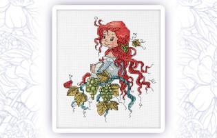 651 Набор для вышивания крестом Astrea 'Фея виноградной лозы' 17х20см