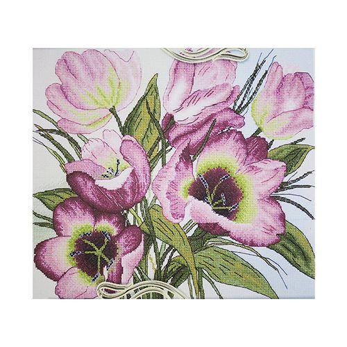 1211 Набор для вышивания Alisena 'Тюльпаны', 24*27 см
