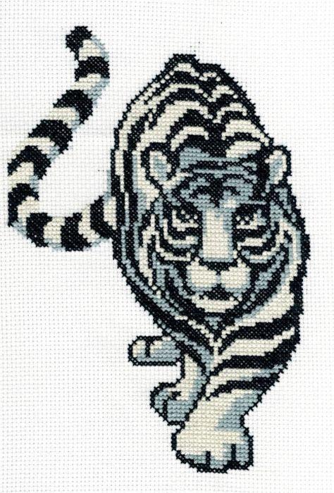 4028 Набор для вышивания'Белый тигр' 16х24 см