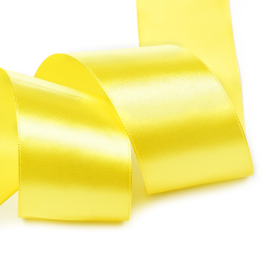 Лента атласная 2' (50мм) цв.3014 желтый IDEAL уп.32,9 м, 8ЛА23014ЖЕЛТ