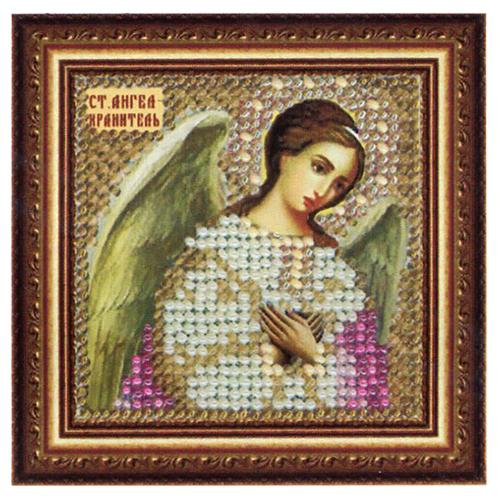 035ПМИ Набор для вышивания бисером 'Вышивальная мозаика' Икона 'Св. Ангел-Хранитель', 6,5*6,5 см