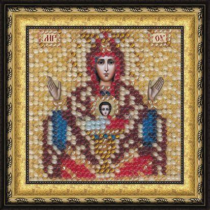 067ПМИ Набор для вышивания бисером 'Вышивальная мозаика' Икона Божией Матери 'Неупиваемая чаша', 6,5*6,5 см