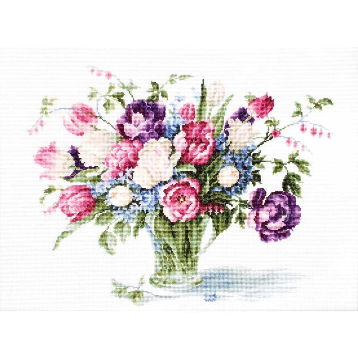 B2261 Набор для вышивания 'Тюльпаны' 33,5*26см, Luca-S