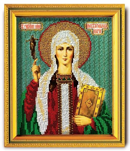 В-312 Набор для вышивания бисером Кроше 'Св. Равноапостольная Нина', 14,5x12см