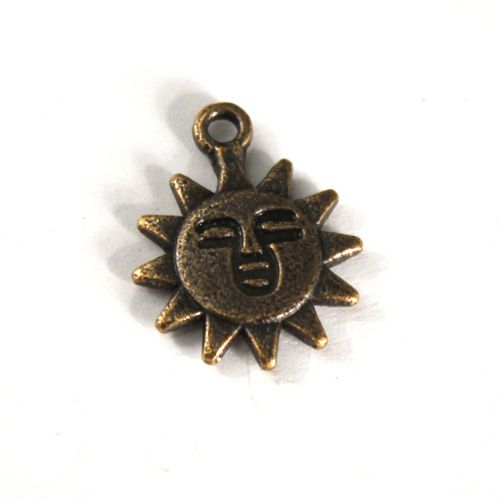 H0946 Подвеска металлическая 'Солнце', 10*13 мм, упак./5 шт., 'Астра'