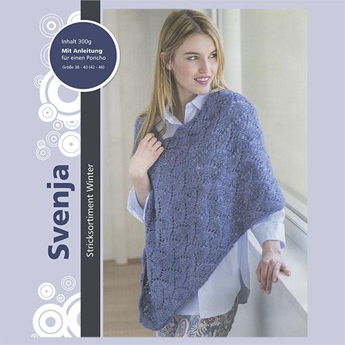 Набор для вязания пончо 'Svenja' 6*50гр 6*95м (51% хлопок, 39% полиакрил, 10% шерсть)