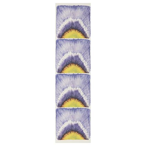 GDS021 Фоамиран с принтом 'Фиалка', 10*40 см, 4 шт на листе Renkalik