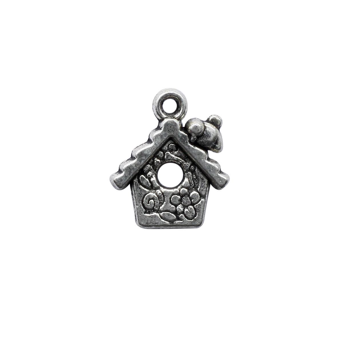 4AR063 Подвеска металлическая скворечник, 2шт/упак, Астра