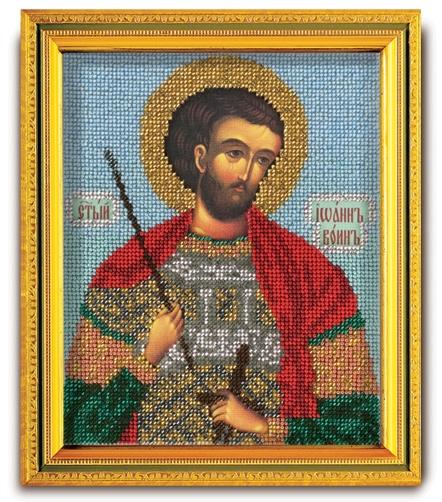 В-323 Набор для вышивания бисером Кроше 'Св. Иоанн воин', 14,5x12см