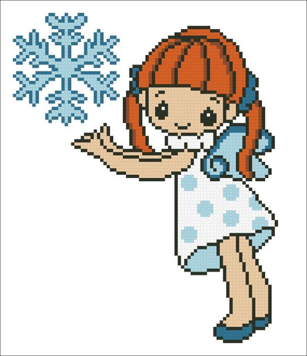4038 Набор для вышивания'Морозная фея' 17х20 см