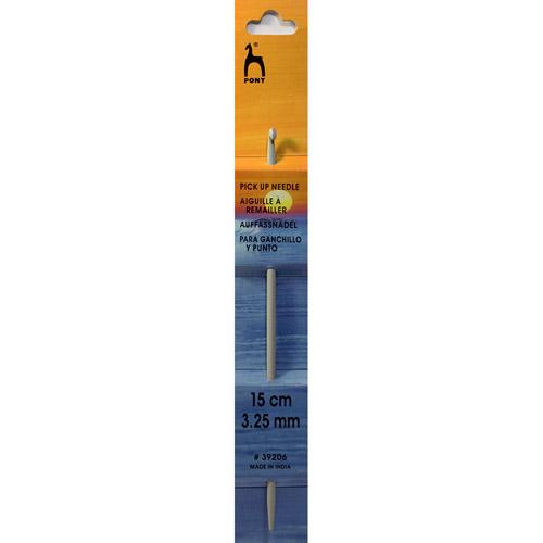 39206 Крючок-спица 3,25 мм/ 15 см, алюминий PONY