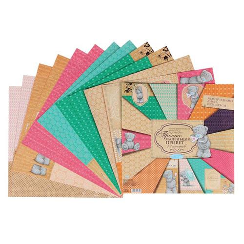 1445780 Набор бумаги для скрапбукинга Me to you 'Просто маленький привет', 12 листов, 30.5 x 30.5 см, 180 г/м?