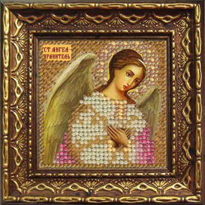 2035дПИ Набор для вышивания бисером 'Вышивальная мозаика' 'Ангел-Хранитель', 6,5*6,5 см