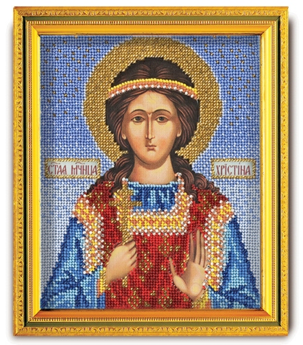 В-334 Набор для вышивания бисером Кроше 'Св. Кристина', 14,5x12см
