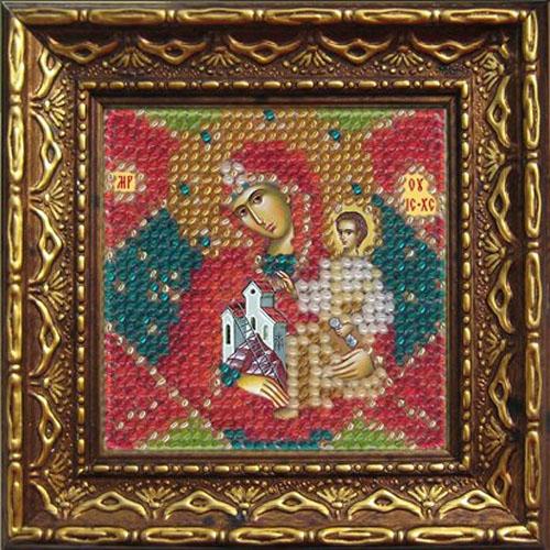 2079дПИ Набор для вышивания бисером 'Вышивальная мозаика' Икона Божией матери 'Неопалимая купина', 6,5*6,5 см
