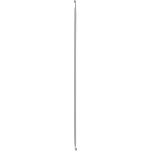 43310 Крючок вязальный тунисский двусторонний 4,50 мм/ 30 см, алюминий PONY