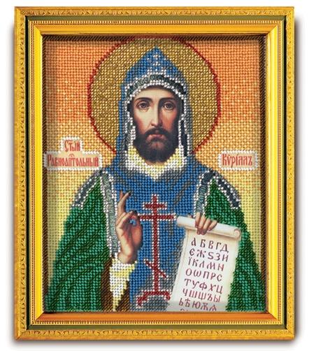 В-339 Набор для вышивания бисером Кроше 'Св. Равноапостольный Кирилл', 14,5x12см