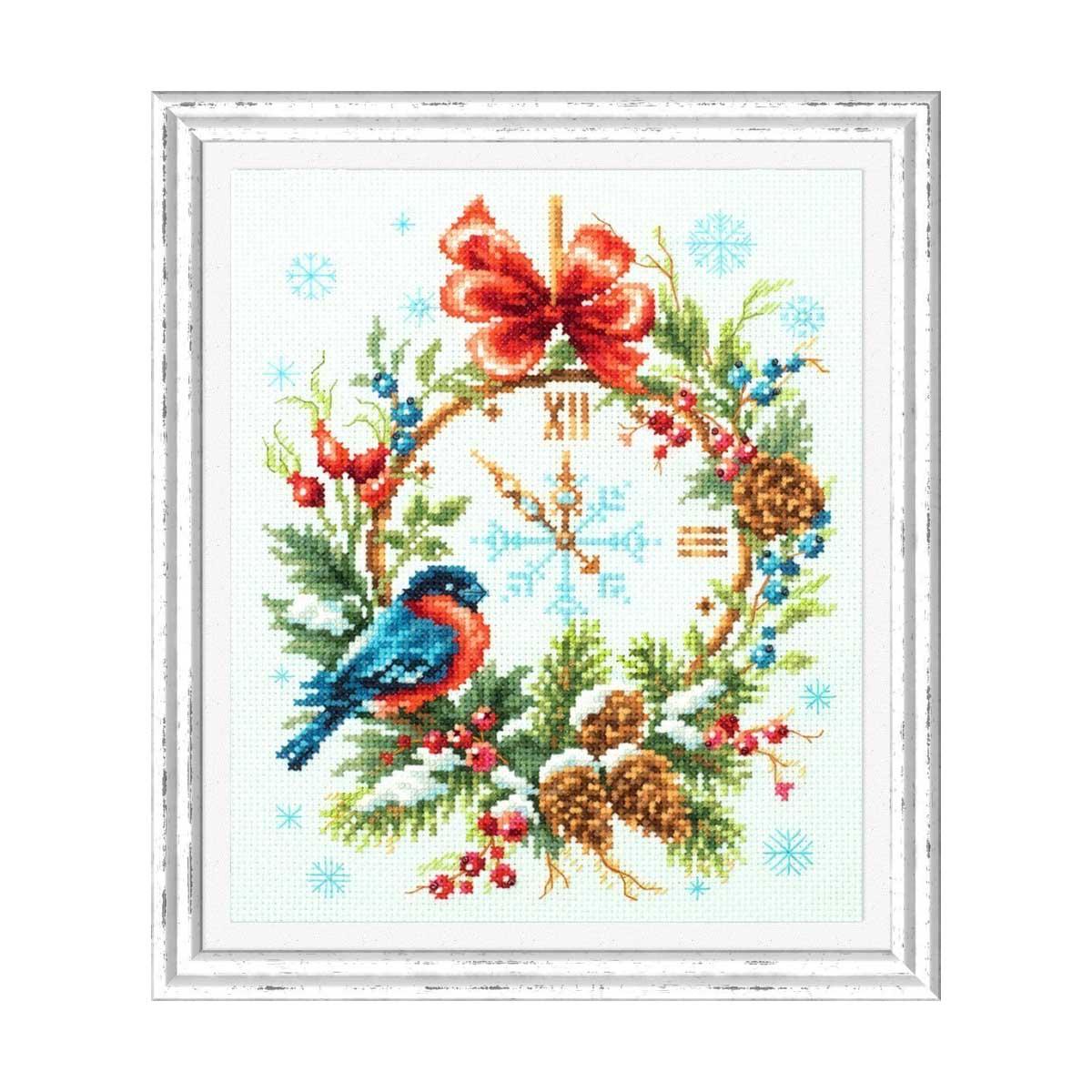 100-243 Набор для вышивания Чудесная игла 'Время Рождества'17х22см