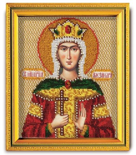 В-340 Набор для вышивания бисером Кроше 'Св. Царица Александра', 14,5x12см