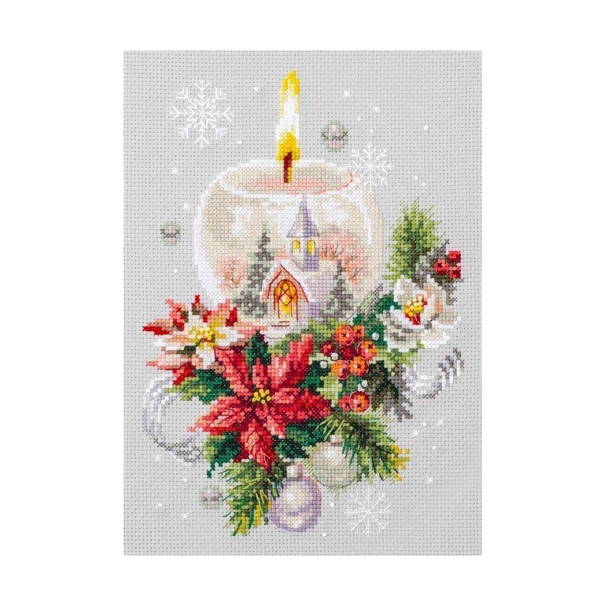 100-231 Набор для вышивания Чудесная игла 'Рождественская свеча'16х23см