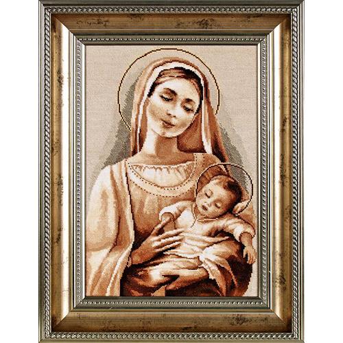 1091 Набор для вышивания Alisena 'Мадонна с младенцем', 24*35 см