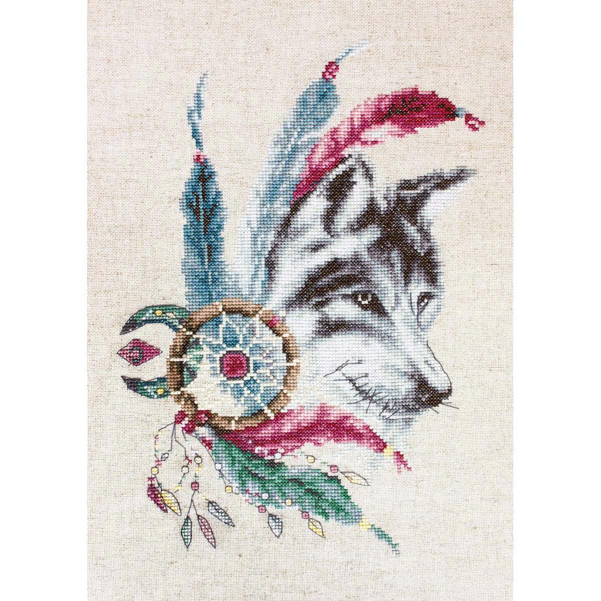 B2305 Набор для вышивания 'Волк' 18*25см, Luca-S