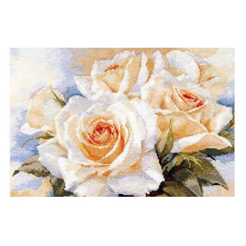 2-32 Набор для вышивания АЛИСА 'Белые розы' 40*27см