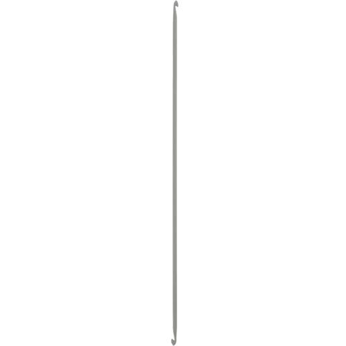 43309 Крючок вязальный тунисский двусторонний 4,00 мм/ 30 см, алюминий PONY