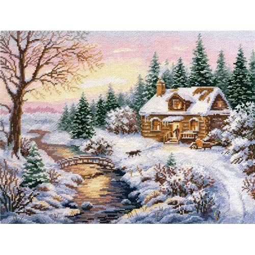 3-15 Набор для вышивания АЛИСА 'Зима. К вечеру' 38*30см