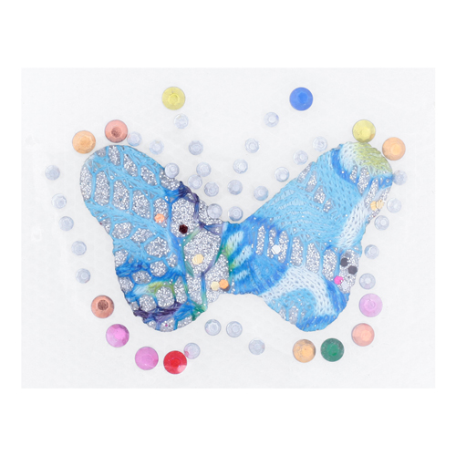 Термоаппликация Бабочка мал. голубая