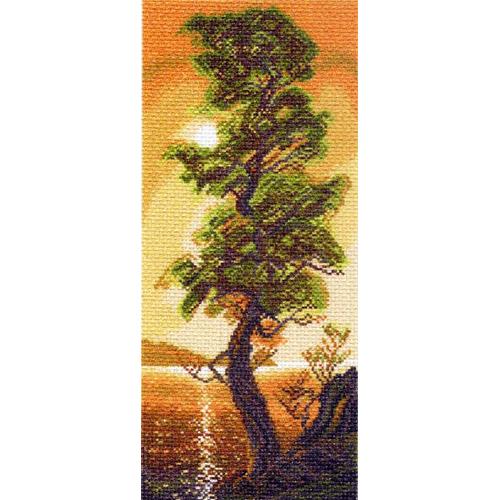 1308 Канва с рисунком 'Матренин посад' 'Байкальский кедр', 24*47 см