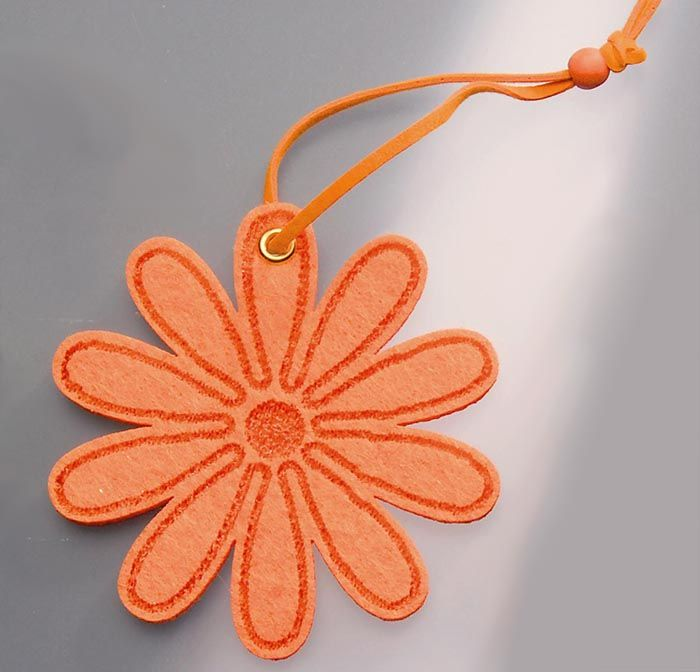 61215361 Цветы из фетра оранжевый 2шт с лентой Glorex