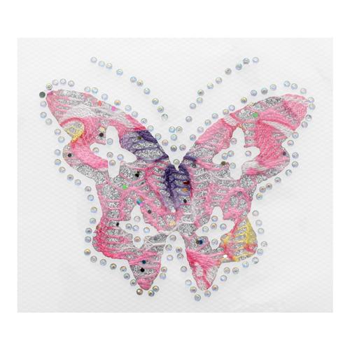Термоаппликация Бабочка розовая