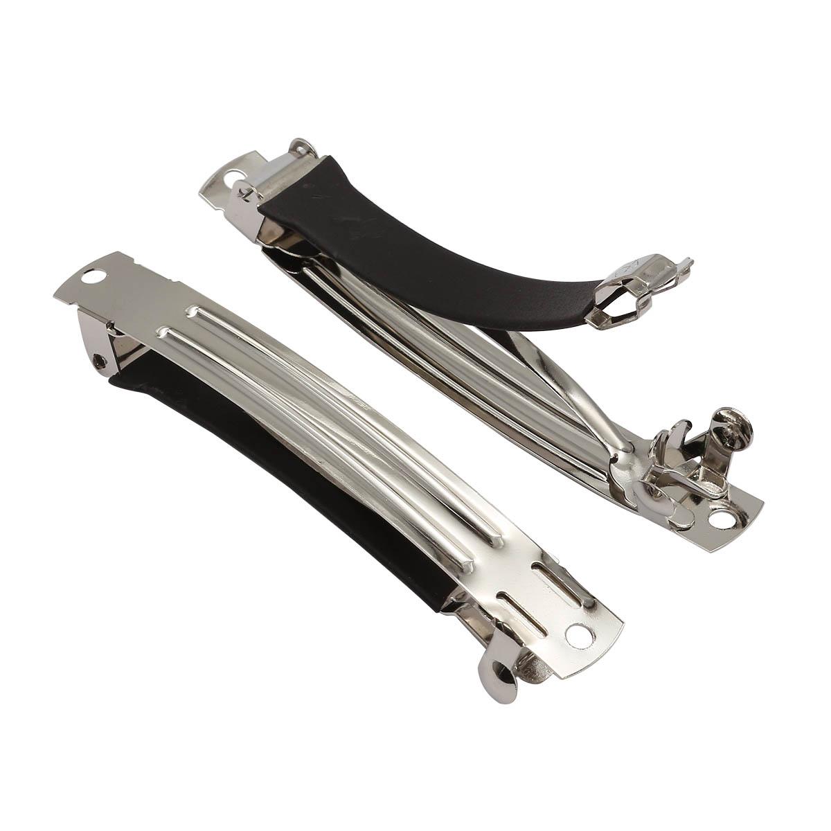 4AR098 Основа для заколки-автомат, металл/силикон, 8см, 2 шт/упак, Астра