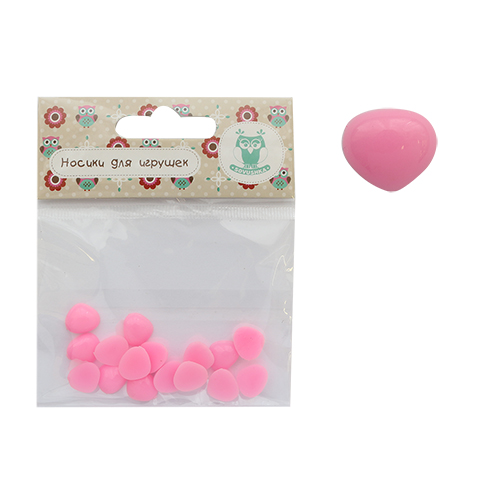 25544 Носик клеевой 12мм треугольный, цв. розовый, упак/16шт