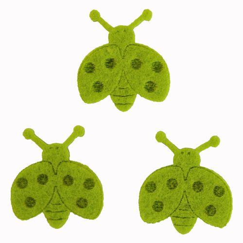 61215634 Божьи коровки из фетра, 10шт, цвет: светло-зеленый Glorex