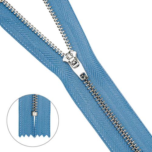 Молния джинсовая нераз.никель,т4 p/l 20см
