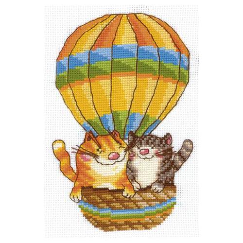 Н-13 Набор для вышивания 'На воздушном шаре', 12*17 см