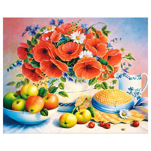 АЖ-1377 Картина стразами 'Алмазная живопись' 'Дачный день', 50*40 см